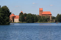 Trakai. The little historic town in Lithuania, Trakai Stock Photo