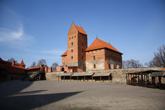 Trakai medieval castle (Lithuania) Stock Images