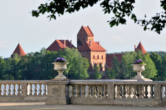 Trakai royal castle Stock Images