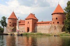 Trakai Schloss lizenzfreie stockbilder