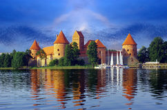 Trakai Schloss - Insel Lizenzfreies Stockfoto