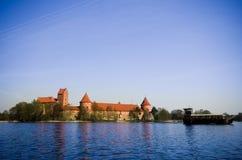 Trakai slott Arkivbild