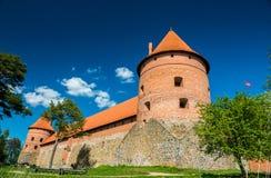 Trakai slott Arkivfoto