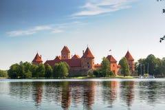 Trakai slott Litauen Royaltyfri Foto