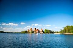 Trakai slott - öslott Royaltyfri Fotografi