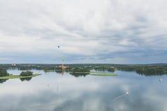 Trakai wyspy kasztel i Galve jezioro w Trakai, Lithuania fotografia stock