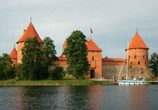 Trakai wyspy kasztel, Trakai, Lithuania Obraz Stock