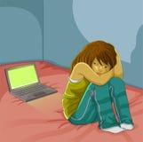 trakassera online vektor illustrationer