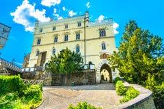 Trakoscan城堡在克罗地亚, Zagorje 免版税图库摄影