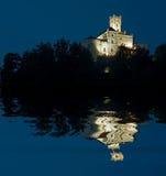 trakoscan natt fotografering för bildbyråer
