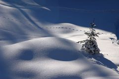 Traks sulla neve Fotografie Stock