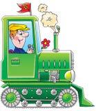 Traktor vektor illustrationer