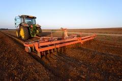 Traktor al campo Fotografia Stock Libera da Diritti