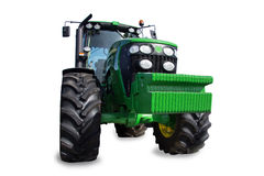 Traktor auf einem weißen Hintergrund Stockfotografie