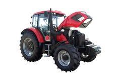 Traktor auf einem weißen Hintergrund Lizenzfreie Stockbilder