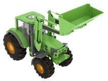 Traktor auf weißem Hintergrund Lizenzfreie Stockbilder