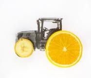 Traktor dreht Frucht stockbild
