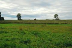 Traktor en el horizonte Fotografía de archivo