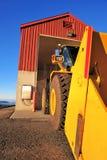 Traktor et construction Photographie stock