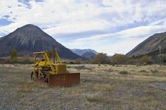 Traktor för sjöColeridge hög land Arkivbilder