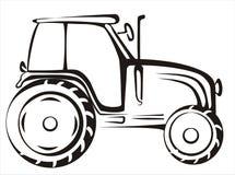 Traktor getrennte vektorabbildung Lizenzfreies Stockbild