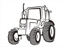 Traktor getrennte vektorabbildung Stockfoto