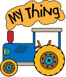 Blue Tractor My Thing stock illustration