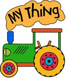 Green Toy Tractor My Thing royalty free illustration
