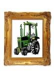 Traktor im Bilderrahmen Stockfotografie