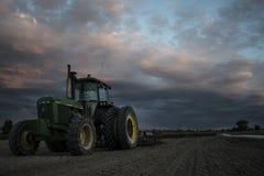 Traktor-Land Stockfoto