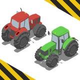 Traktor lantgårdmaskineri för isometrisk värld Royaltyfria Foton