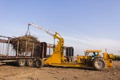 Traktor-LKW-Ernte-Laden Stockfoto