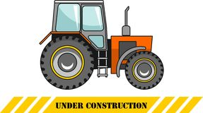 traktor Maschinen des schweren Baus Vektor Lizenzfreie Stockfotos