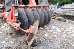 Traktor med metallbladet Fotografering för Bildbyråer