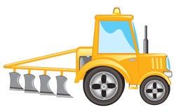 Traktor mit Pflug Stockbilder