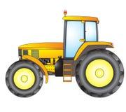 traktor nachricht Weihnachtsmann in einer Schutzkappe, in den Kopfhörern, mit einem Weihnachtslutscher herein zum Mund Lizenzfreies Stockbild