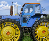 Traktor no.1. Old tractor as a memorial in Finland Royalty Free Stock Images