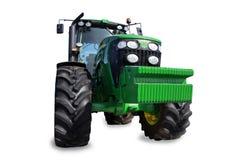 Traktor på en vit bakgrund Arkivbild