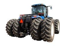 Traktor på en vit bakgrund Royaltyfri Bild