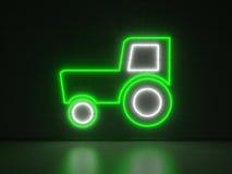 Traktor - serieneontecken Arkivbild