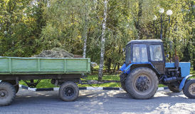 Traktor-släp Royaltyfria Foton