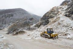 Traktor som tar ett avbrott från arbete Royaltyfri Bild