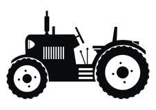 Traktor - svart Arkivfoton