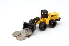 Traktor und Änderung Stockbild