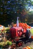 Traktor und Kürbise Lizenzfreie Stockfotografie