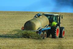 Traktor und Schleppseil Lizenzfreies Stockfoto