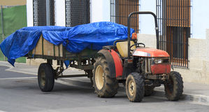 Traktor und Schlussteil Stockfoto