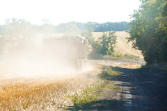 Traktorarbetet Royaltyfri Bild