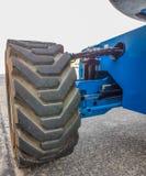 Traktoraufzug für schweren Industriebaustandort Lizenzfreie Stockbilder