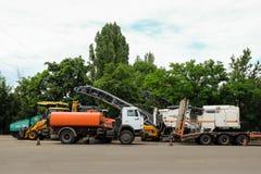 Traktordelar, apparater Arkivfoton